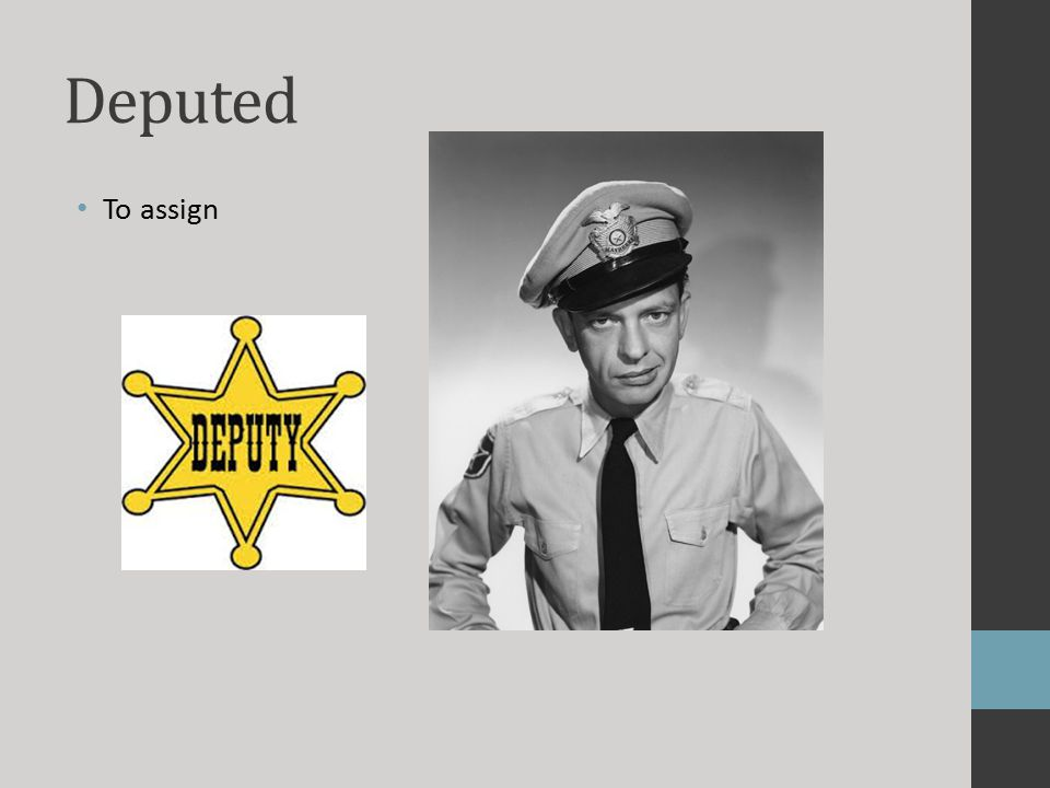 Deputed To assign