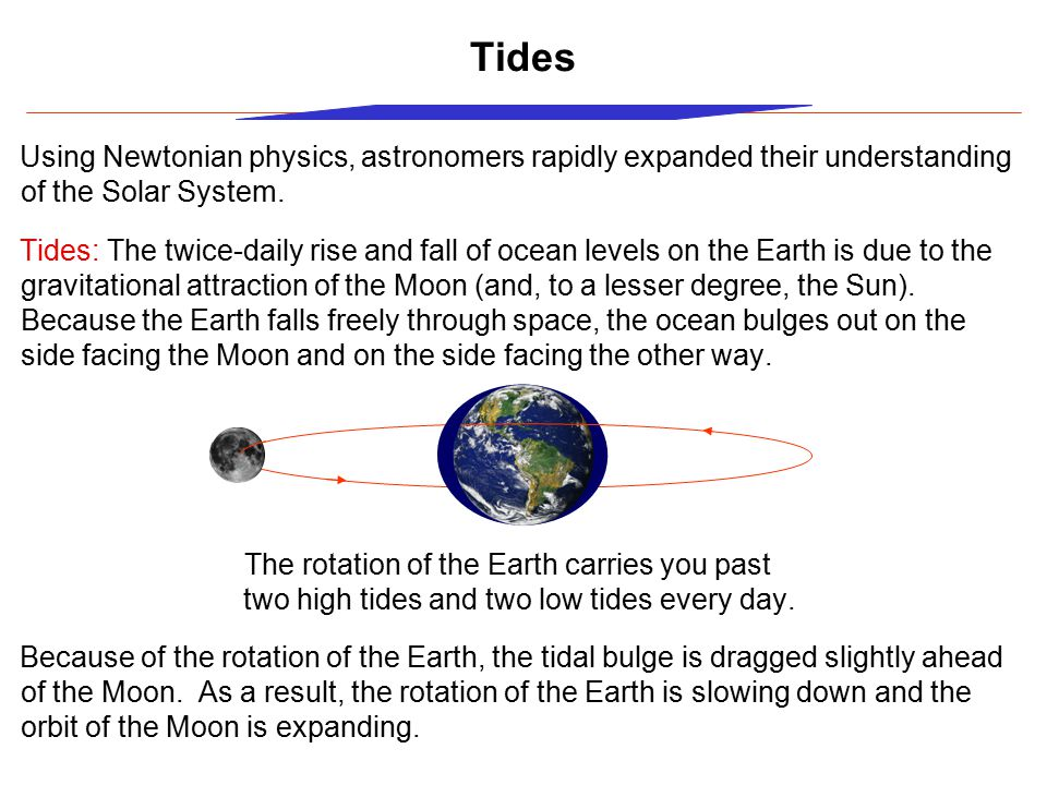 two high tides and two low tides every day.