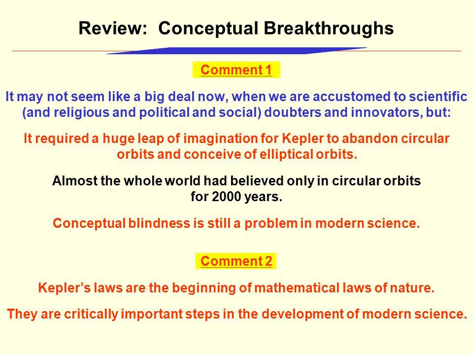 Review: Conceptual Breakthroughs