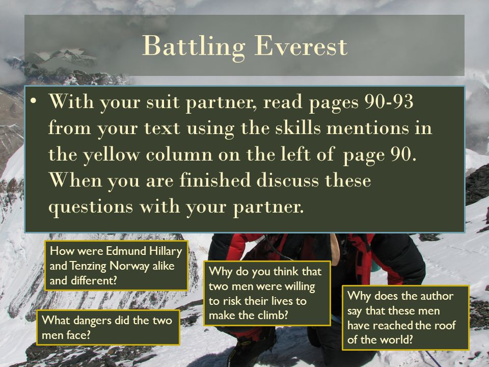 Battling Everest