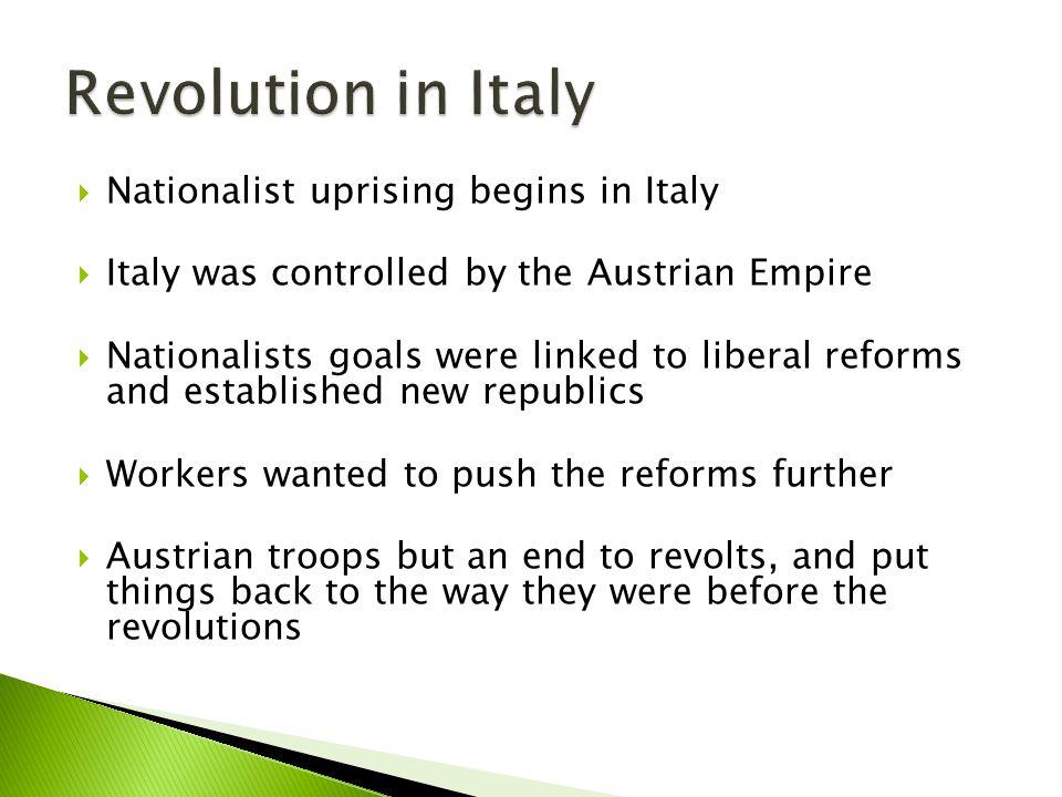 Revolution in Italy Nationalist uprising begins in Italy