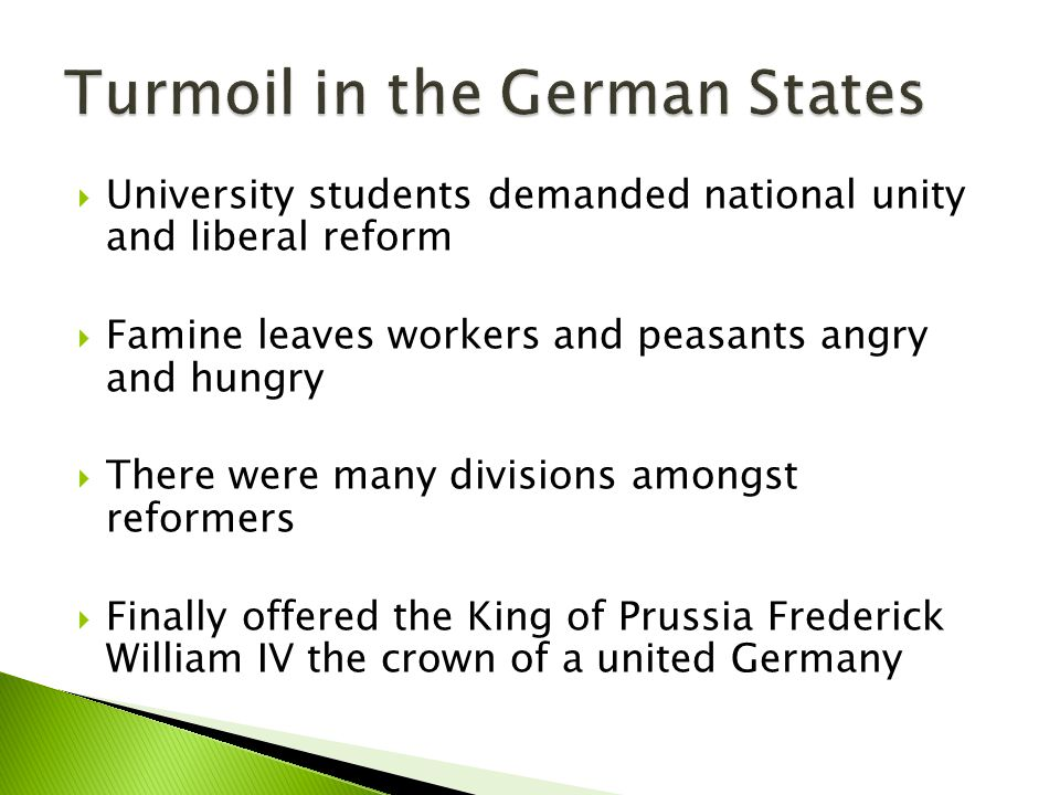 Turmoil in the German States