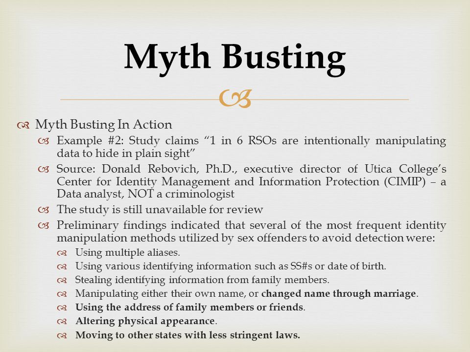 Myth Busting Myth Busting In Action