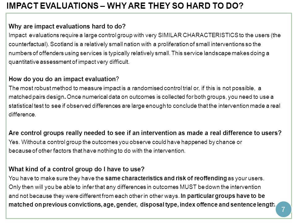Impact evaluations – why are they so hard to do