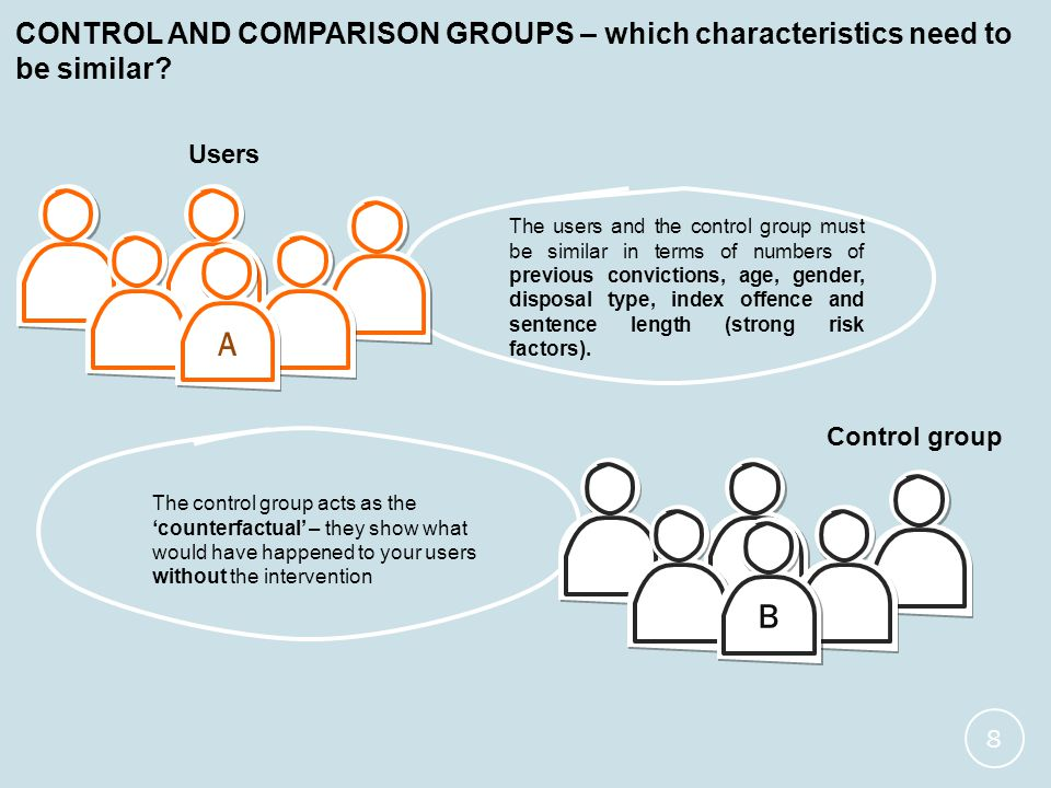 CONTROL AND COMPARISON GROUPS – which characteristics need to be similar