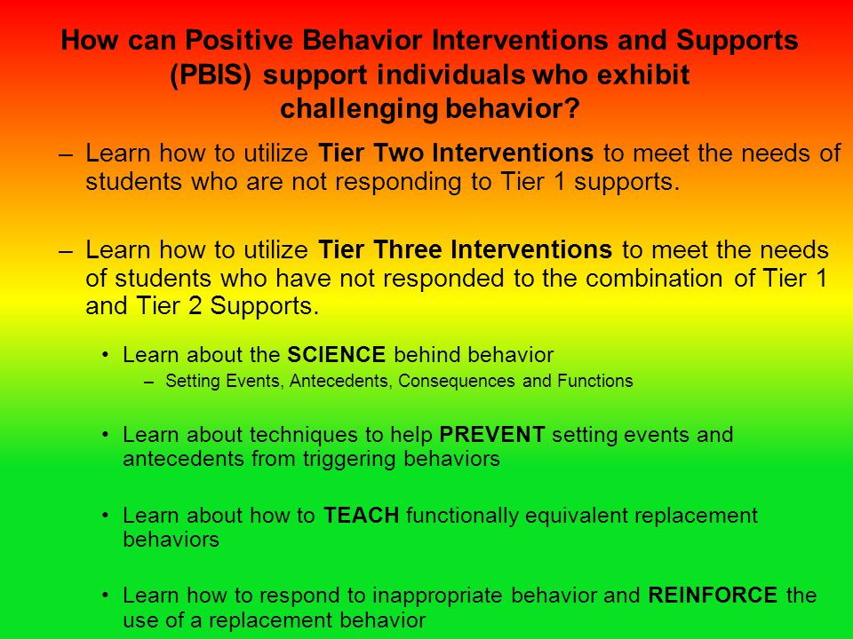 How can Positive Behavior Interventions and Supports (PBIS) support individuals who exhibit challenging behavior
