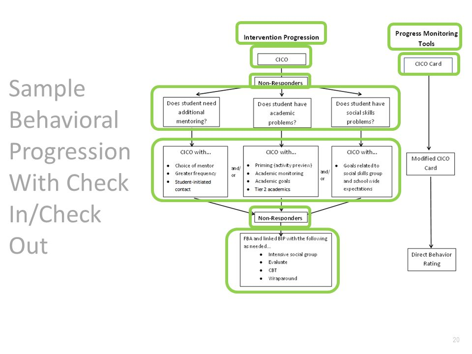 Sample Behavioral Progression With Check In/Check Out