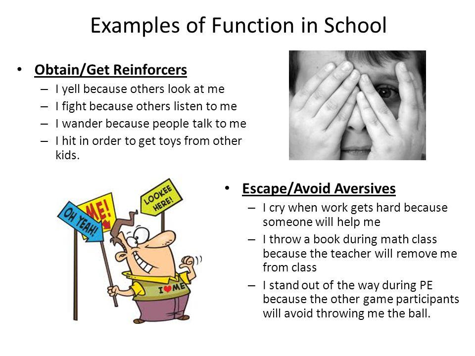 Examples of Function in School