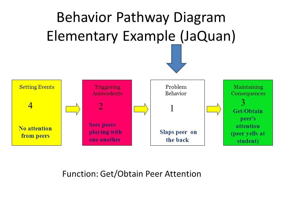 Behavior Pathway Diagram Elementary Example (JaQuan)