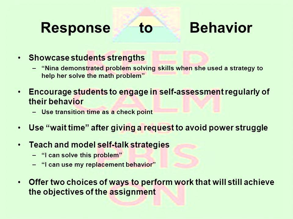 Response to Behavior Showcase students strengths