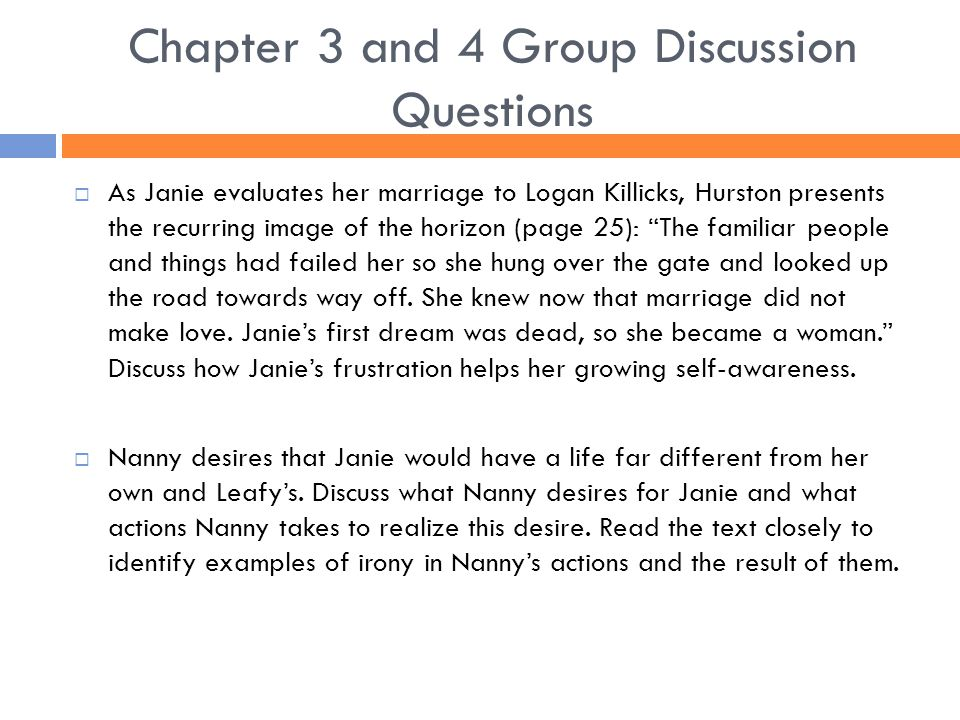 Chapter 3 and 4 Group Discussion Questions