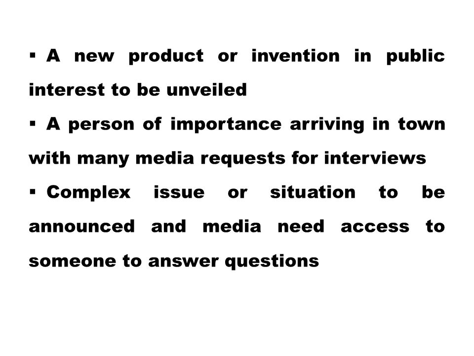 A new product or invention in public interest to be unveiled