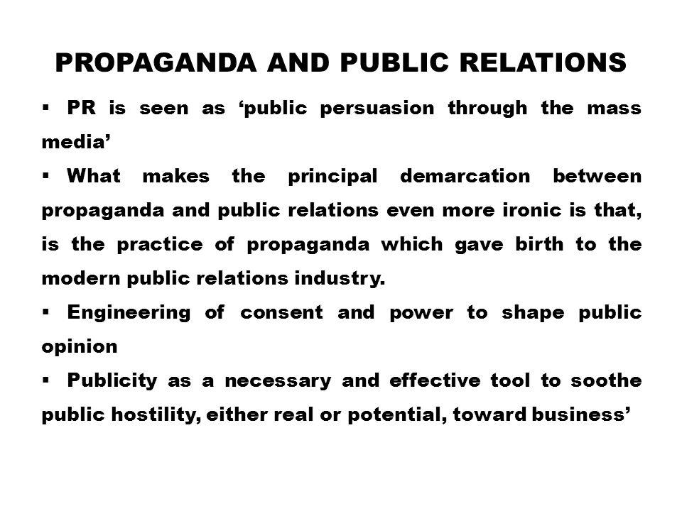 Propaganda and Public Relations
