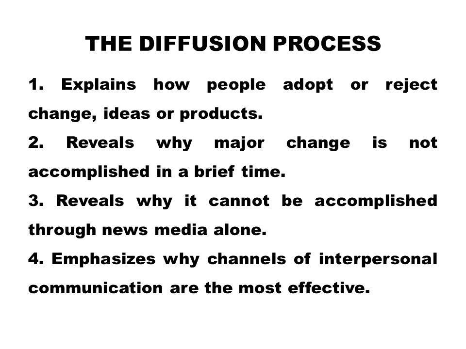 The Diffusion Process