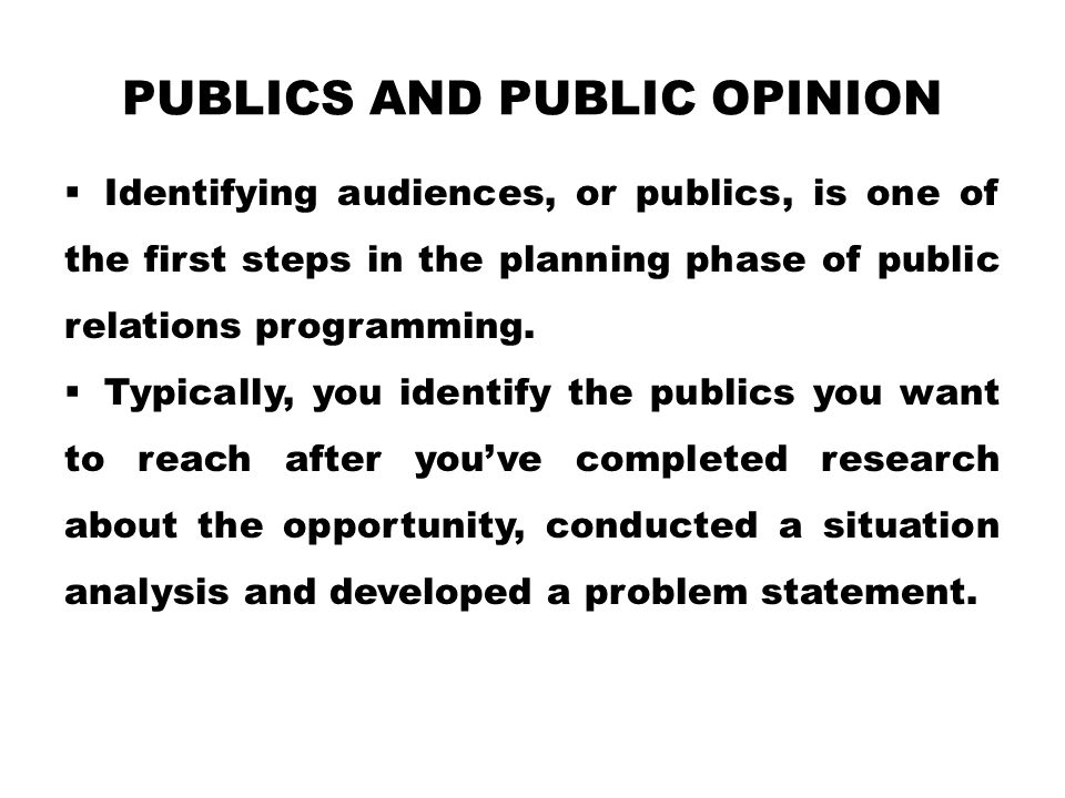 Publics and Public Opinion