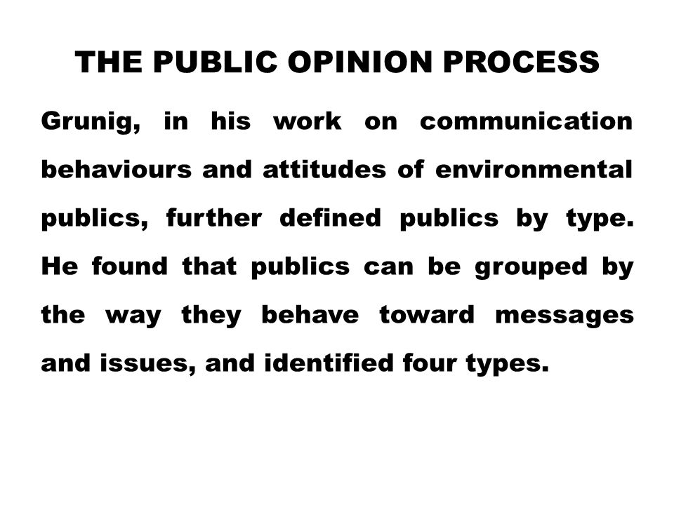 The Public Opinion Process