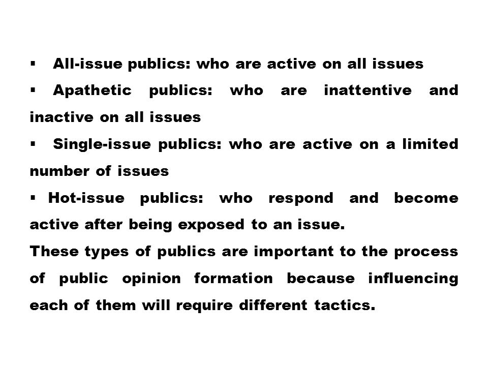 All-issue publics: who are active on all issues