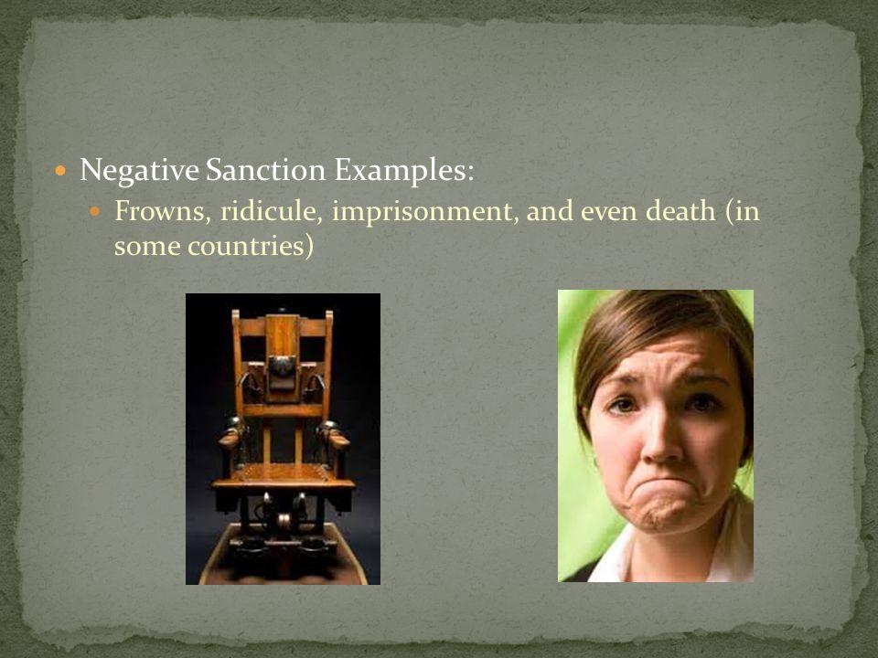 Negative Sanction Examples: