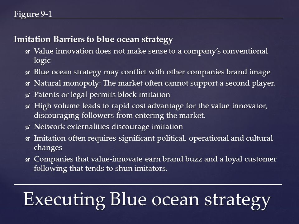 Executing Blue ocean strategy