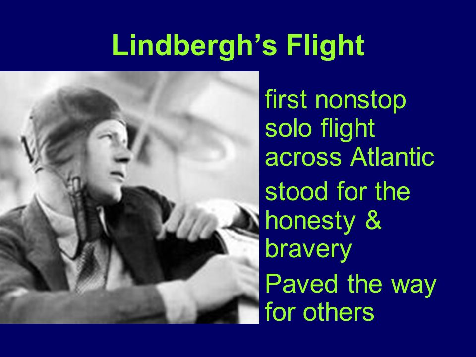 Lindbergh's Flight first nonstop solo flight across Atlantic