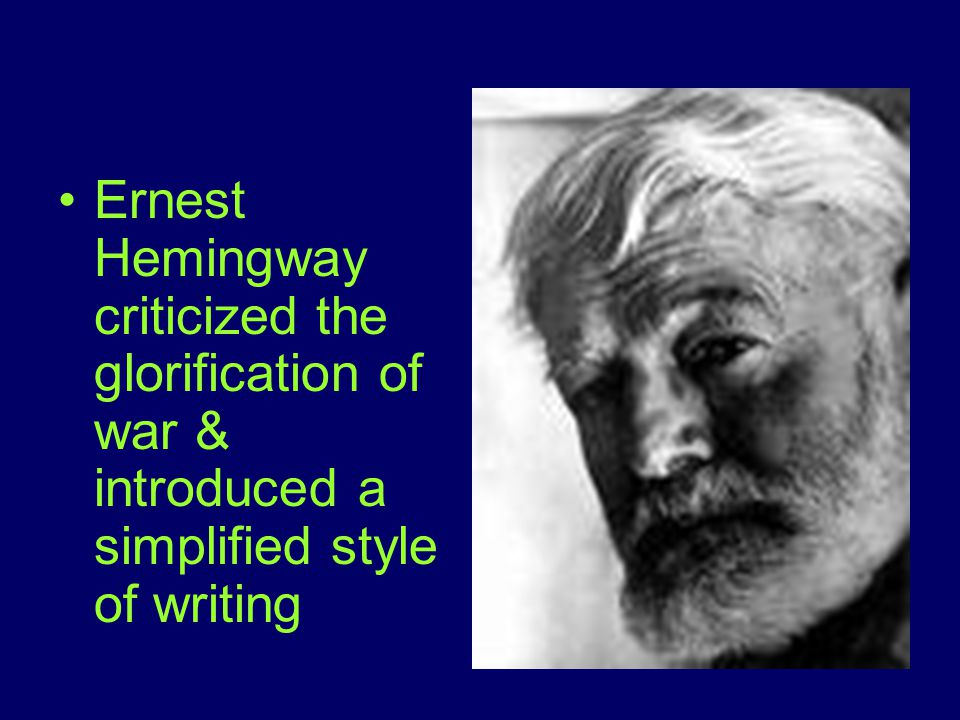 Ernest hemingways writings and wartime experiences essay