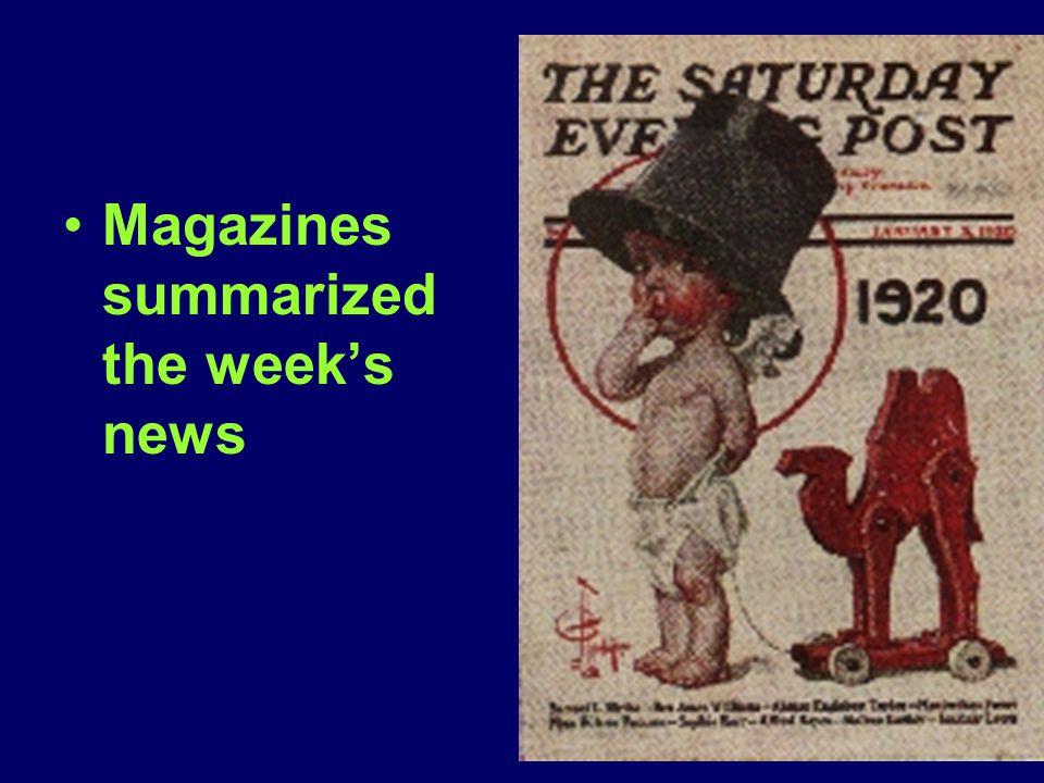 Magazines summarized the week's news