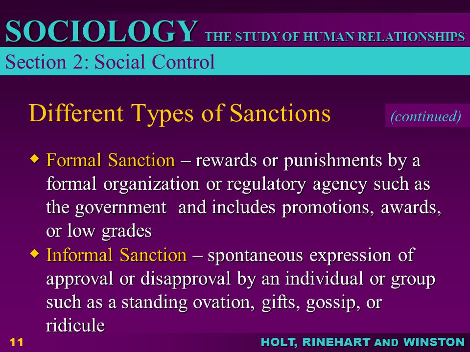 Different Types of Sanctions