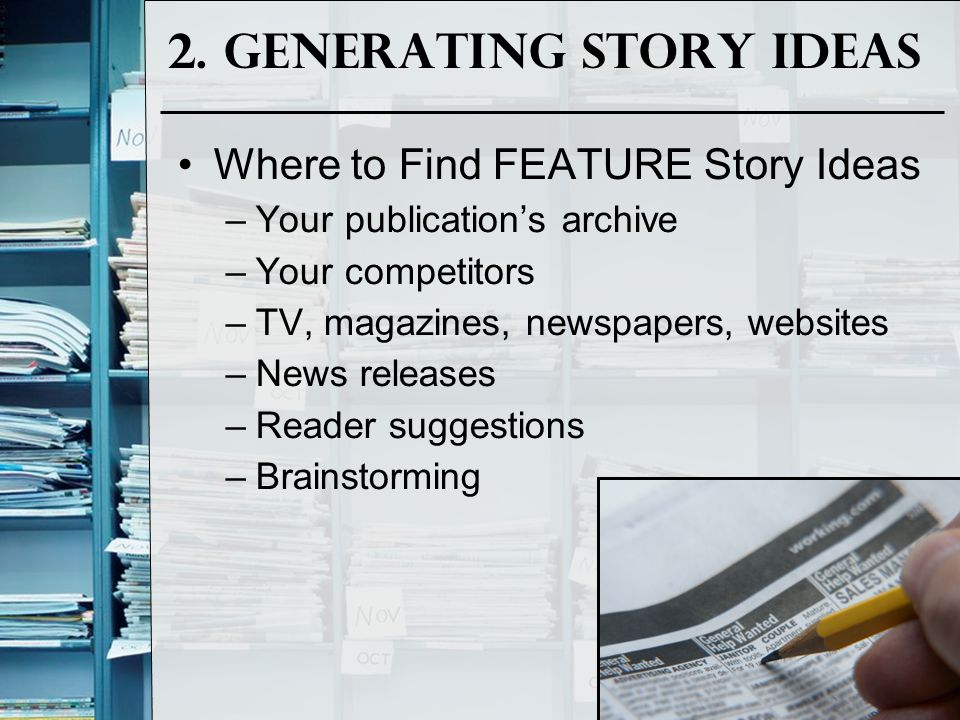 2. Generating Story Ideas