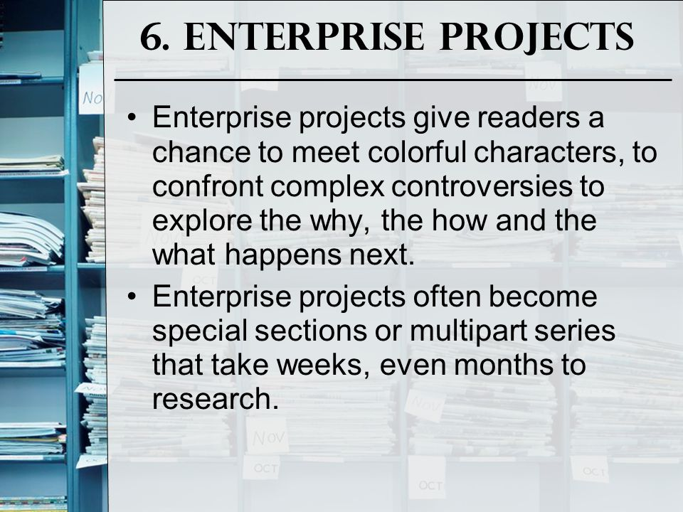 6. Enterprise Projects