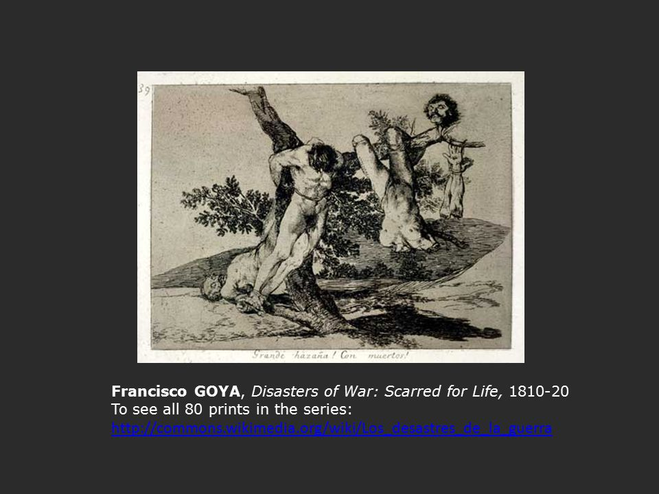 Francisco GOYA, Disasters of War: Scarred for Life, 1810-20