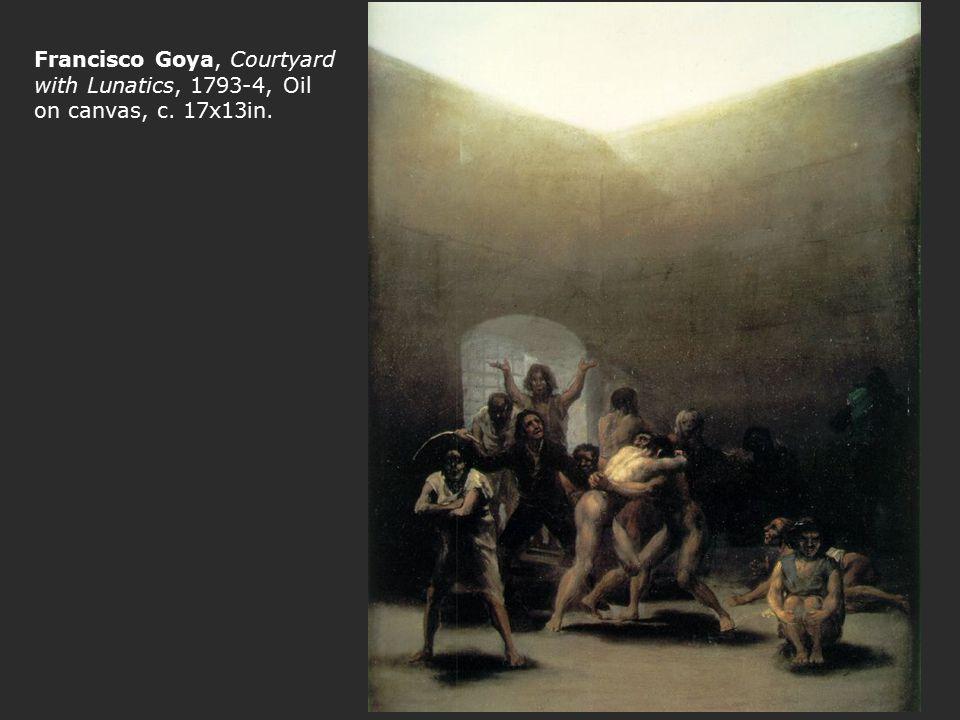 Francisco Goya, Courtyard with Lunatics, 1793-4, Oil on canvas, c