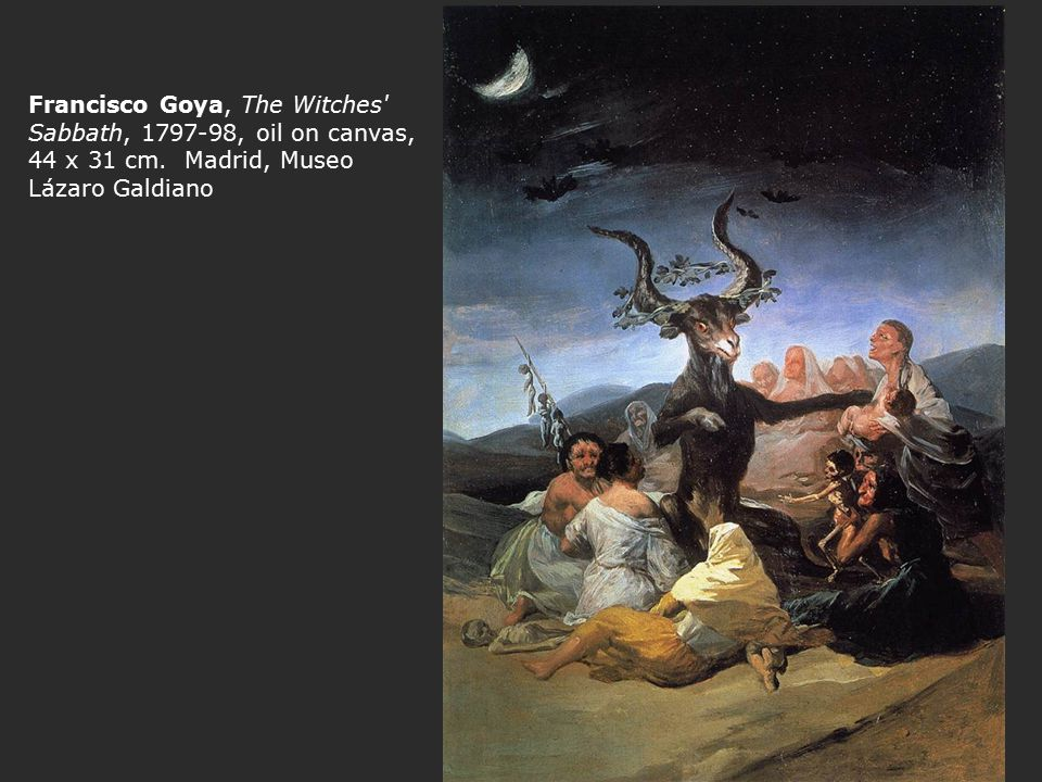 Francisco Goya, The Witches Sabbath, 1797-98, oil on canvas, 44 x 31 cm.