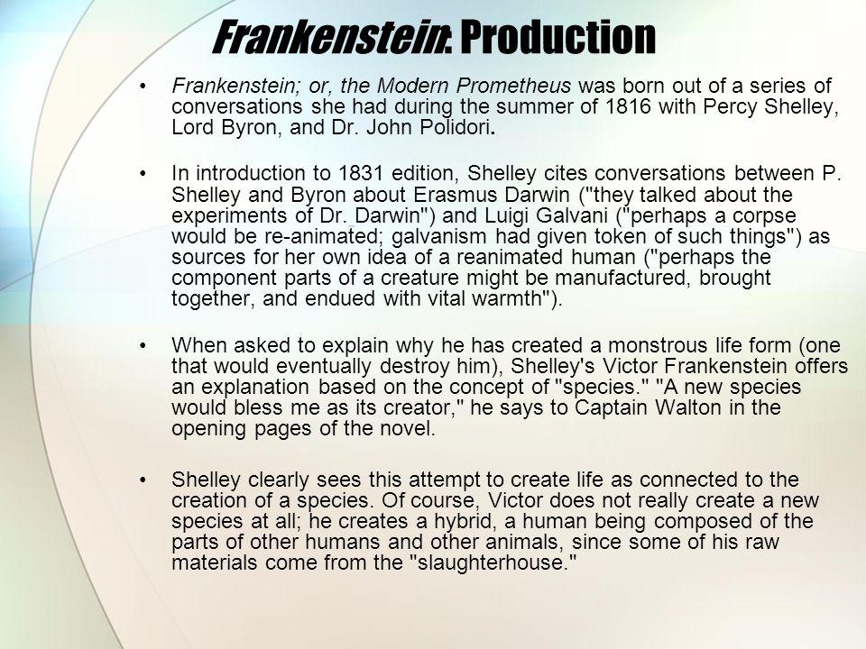 Frankenstein: Production