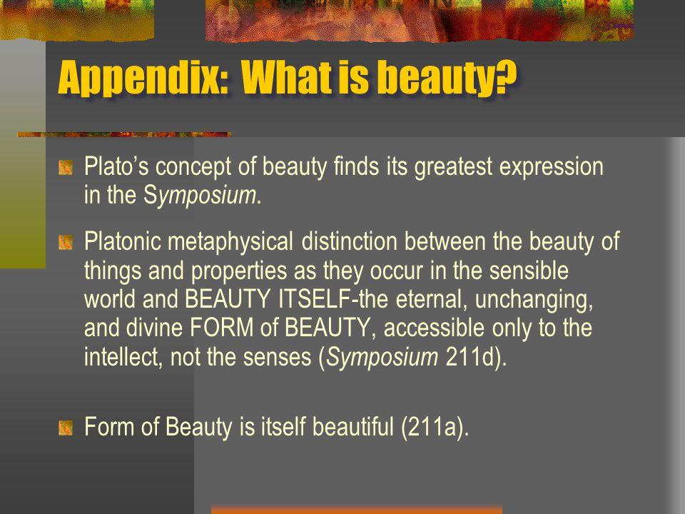 Appendix: What is beauty