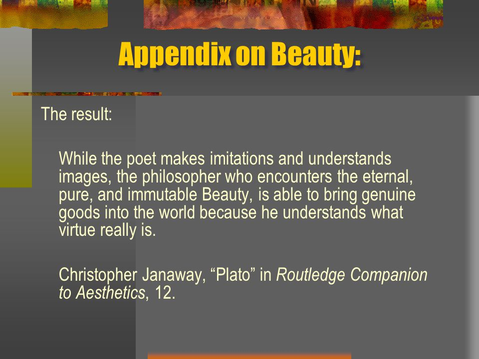 Appendix on Beauty: The result: