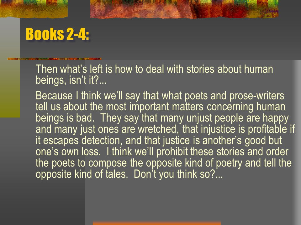 Books 2-4: Then what's left is how to deal with stories about human beings, isn't it ...