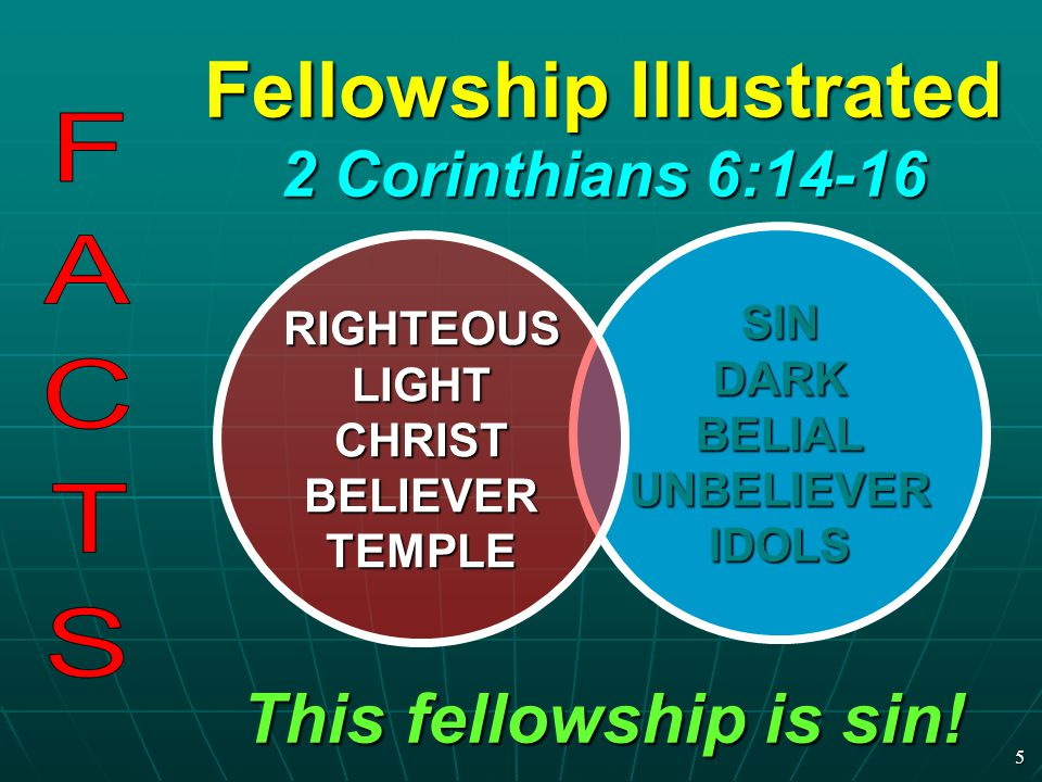 Fellowship Illustrated 2 Corinthians 6:14-16
