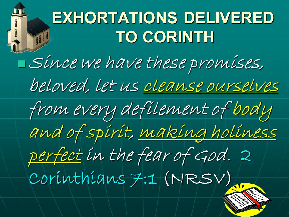 EXHORTATIONS DELIVERED TO CORINTH