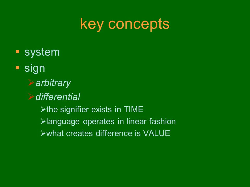key concepts system sign arbitrary differential