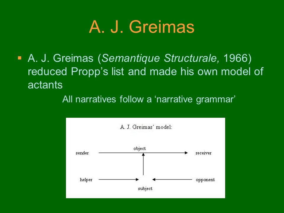 All narratives follow a 'narrative grammar'