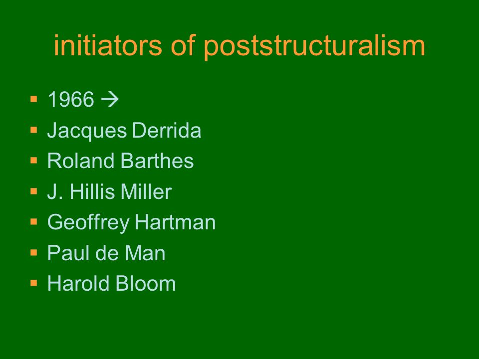 initiators of poststructuralism