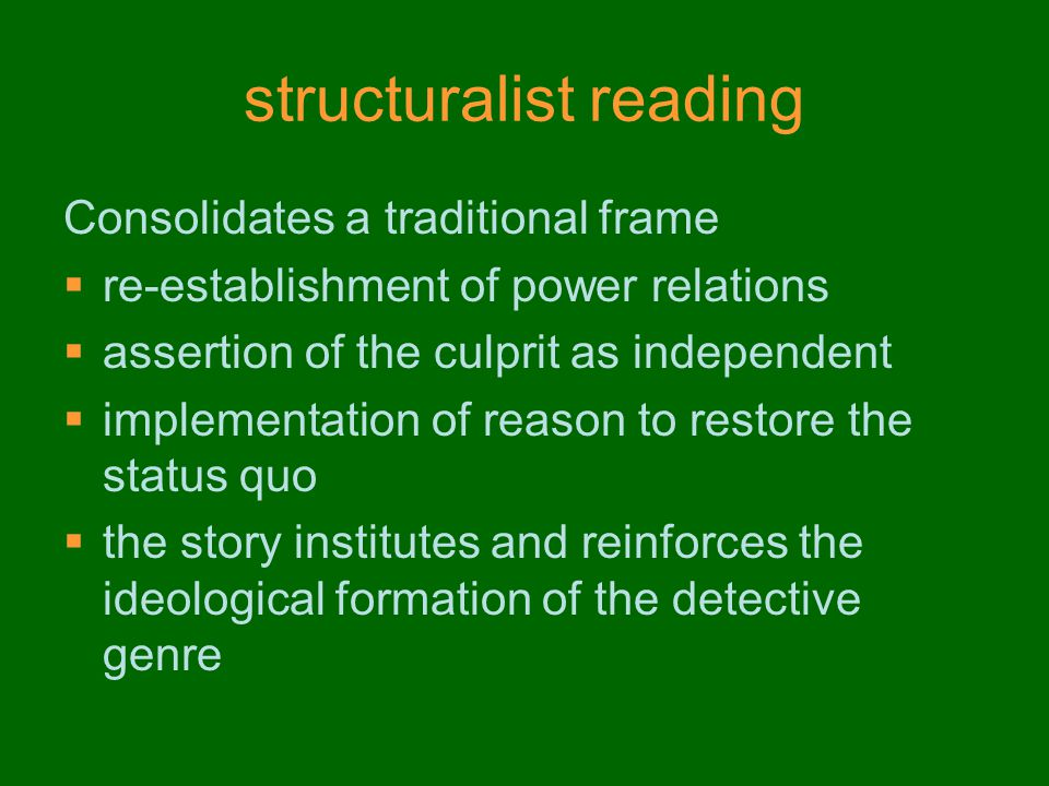 structuralist reading