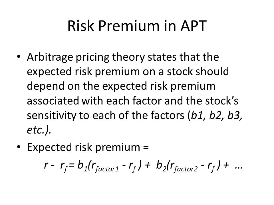 Risk Premium in APT