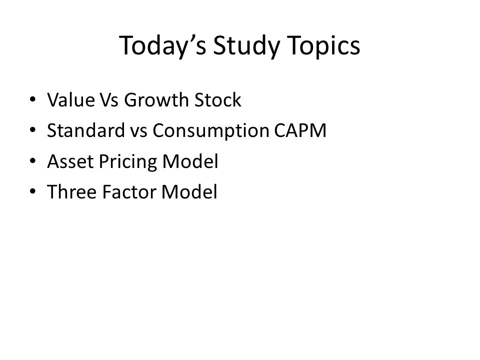 Today's Study Topics Value Vs Growth Stock