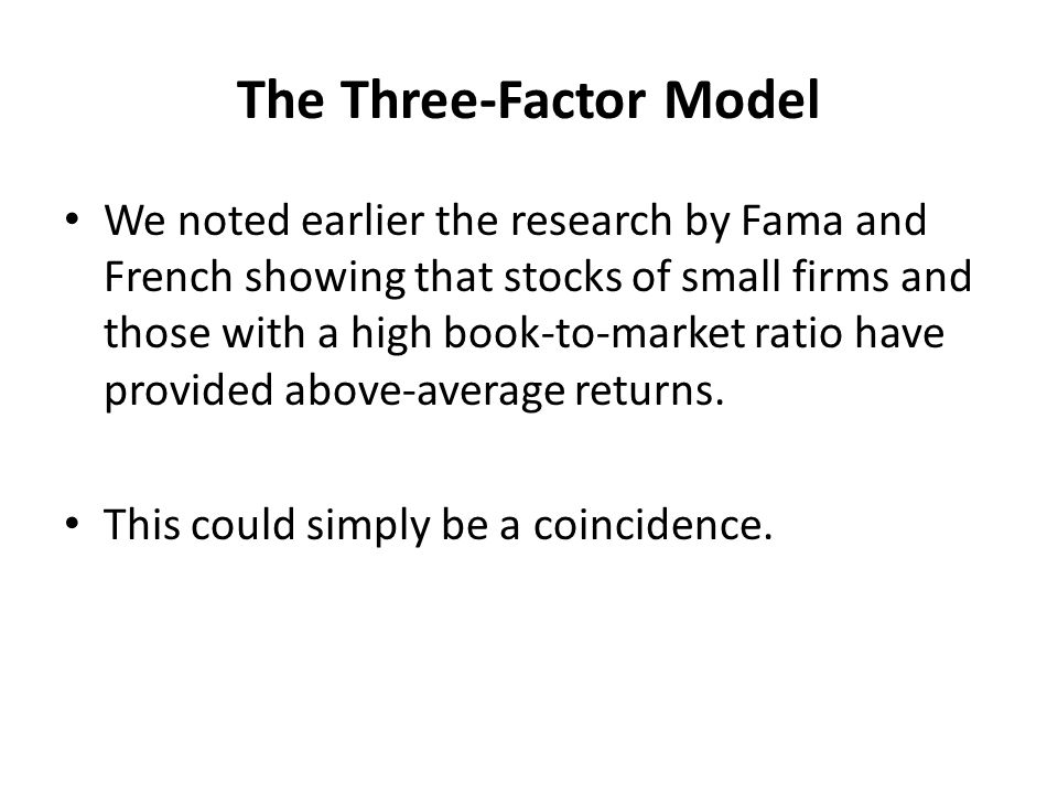 The Three-Factor Model