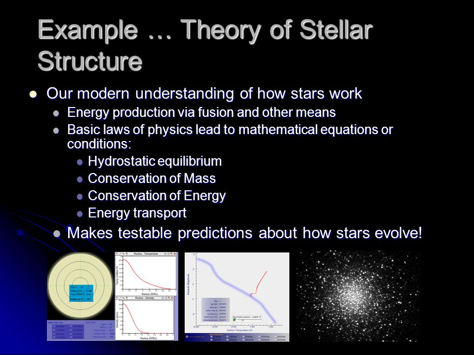 Example … Theory of Stellar Structure