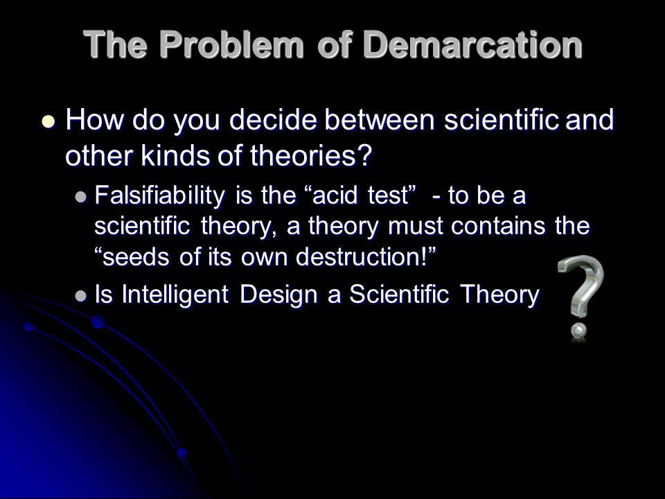 The Problem of Demarcation