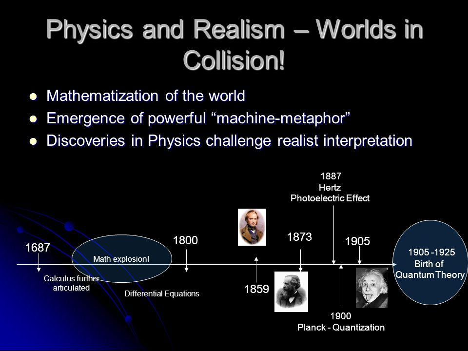 Physics and Realism – Worlds in Collision!