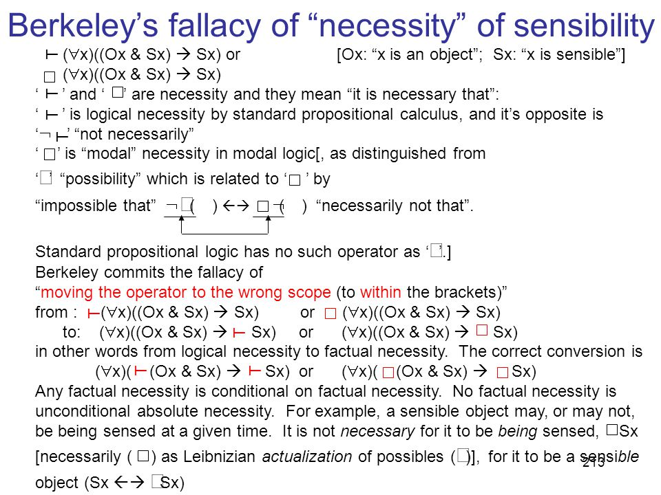 Berkeley's fallacy of necessity of sensibility