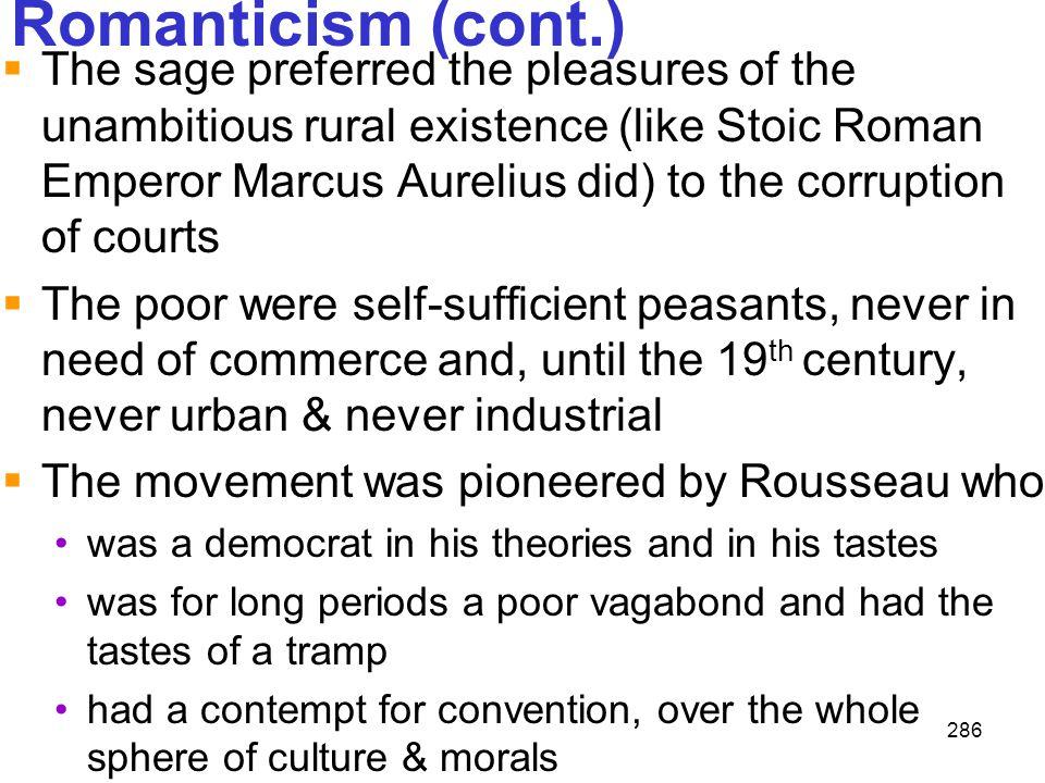 Romanticism (cont.)